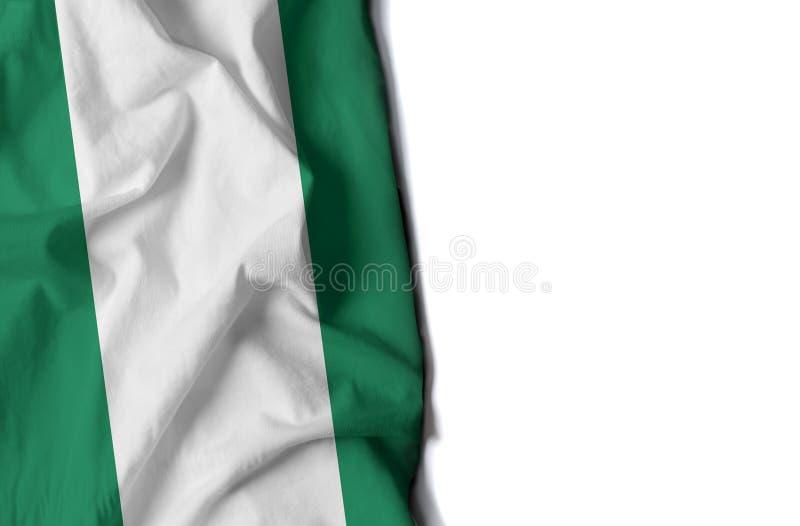 la Nigeria ha corrugato la bandiera, spazio per testo fotografia stock libera da diritti