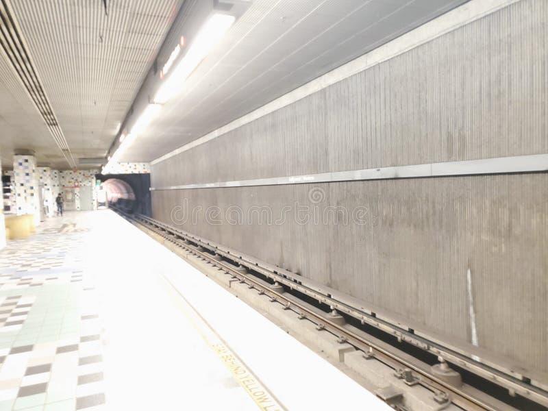 LA nights. Subway, train, metro, public royalty free stock images