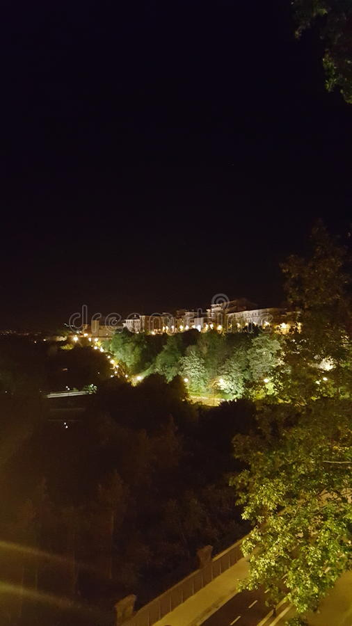 La noche foto de archivo