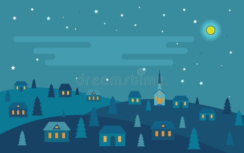 La noche antes de la Navidad ilustración del vector
