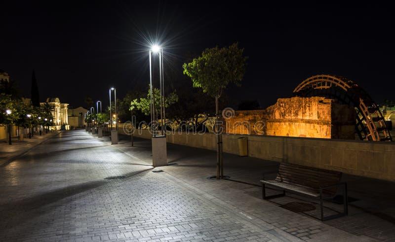 La noche de Córdoba imágenes de archivo libres de regalías