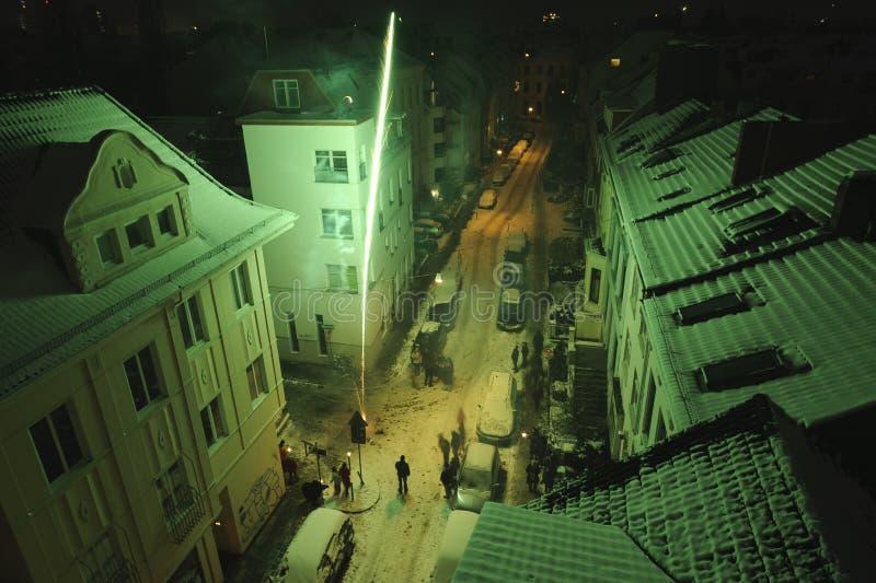 La Noche Vieja en Bremen fotos de archivo