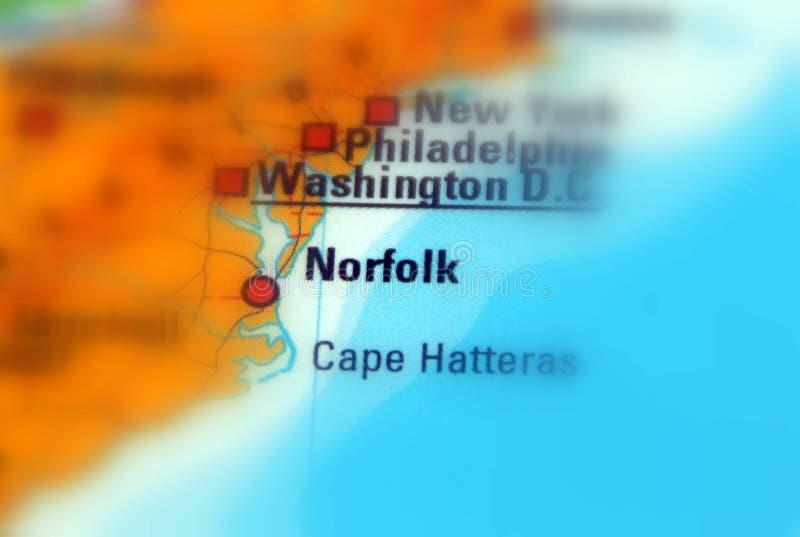 La Norfolk, la Virginia - Stati Uniti fotografia stock libera da diritti