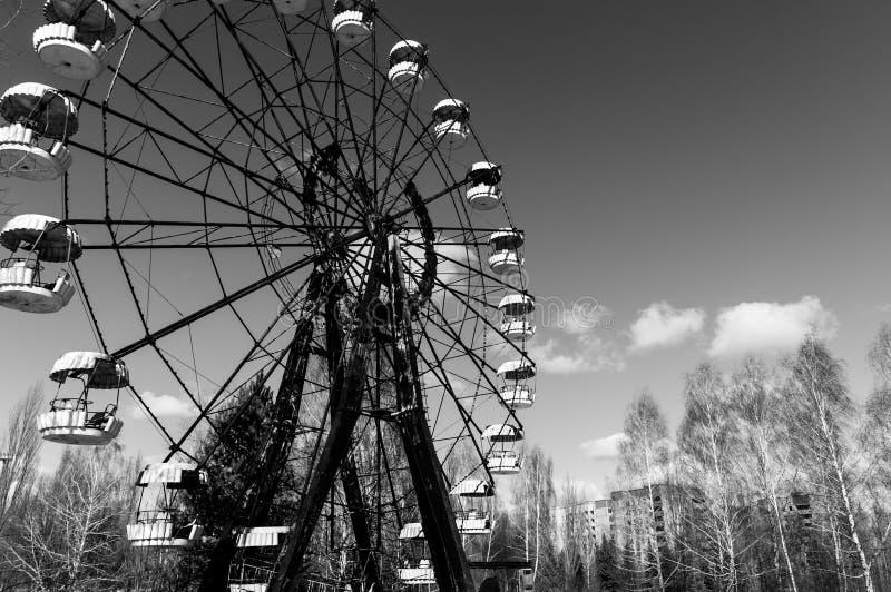 La noria en Pripyat fotografía de archivo