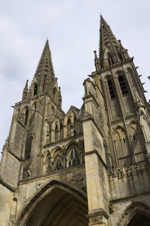 La Normandie pittoresque - voit la cathédrale photo libre de droits