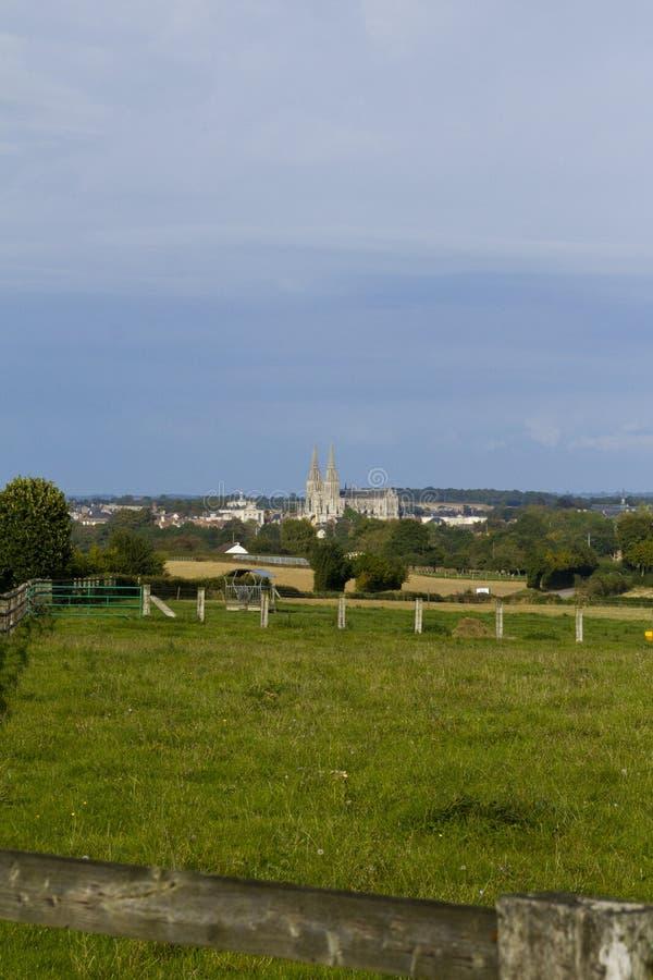 La Normandie pittoresque - voit la cathédrale images libres de droits