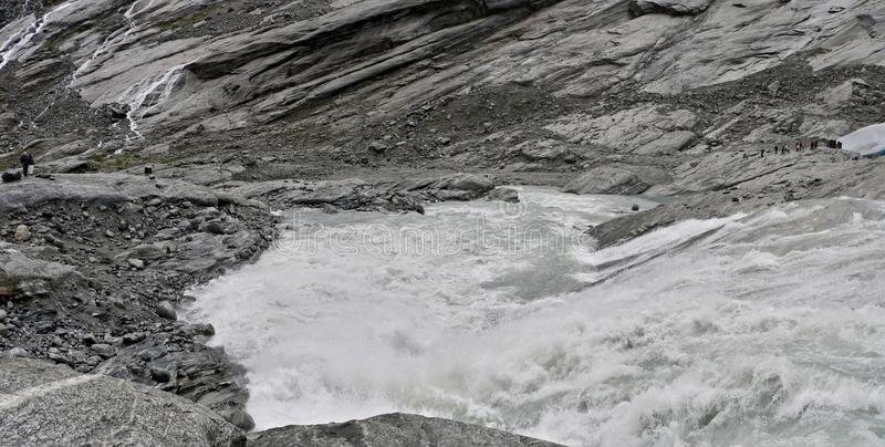 la Norvège-eau du glacier photo stock