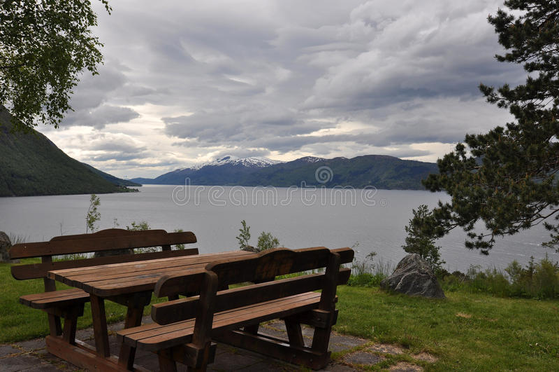 La Norvège, fjord norvégien photographie stock libre de droits