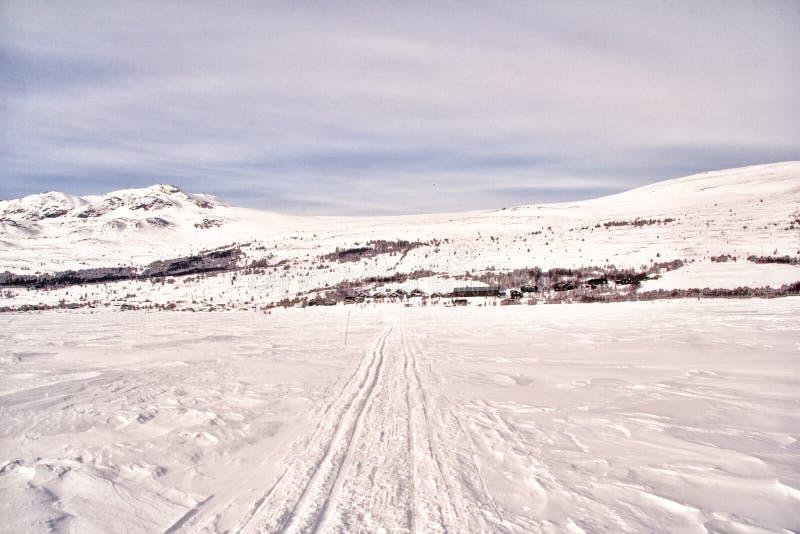La Norvegia in inverno immagini stock