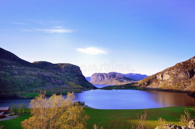 La Norvegia - Rogaland immagine stock