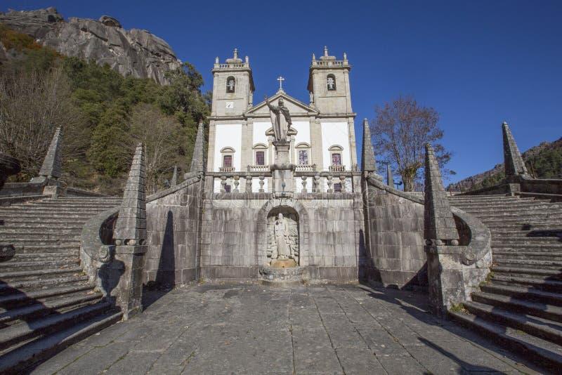 La nostra signora del santuario aka Santuario da Nossa Senhora da Peneda di Peneda fotografia stock libera da diritti