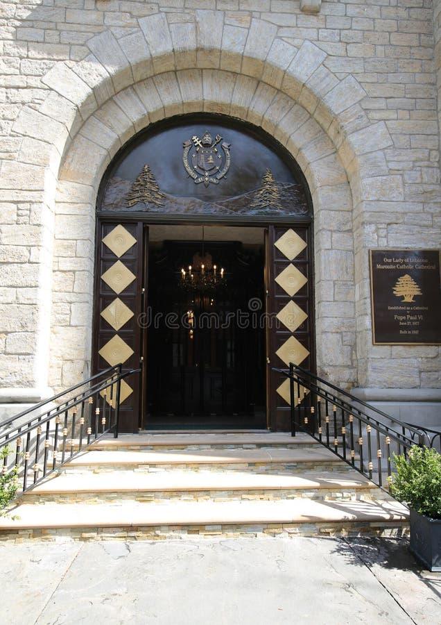 La nostra signora della cattedrale cattolica del Libano Maronite in Brooklyn Heights immagini stock libere da diritti