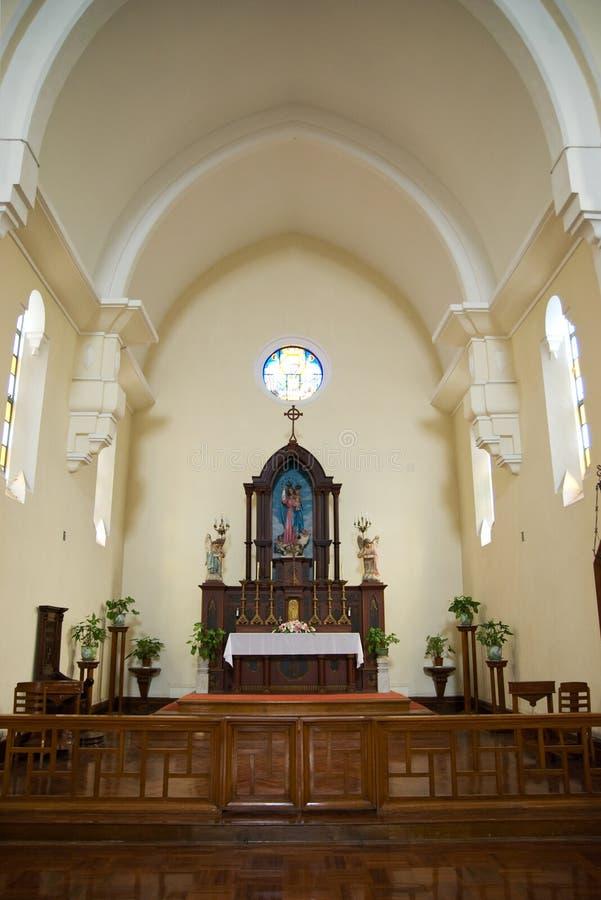 La nostra signora della chiesa di Penha a Macau fotografie stock libere da diritti