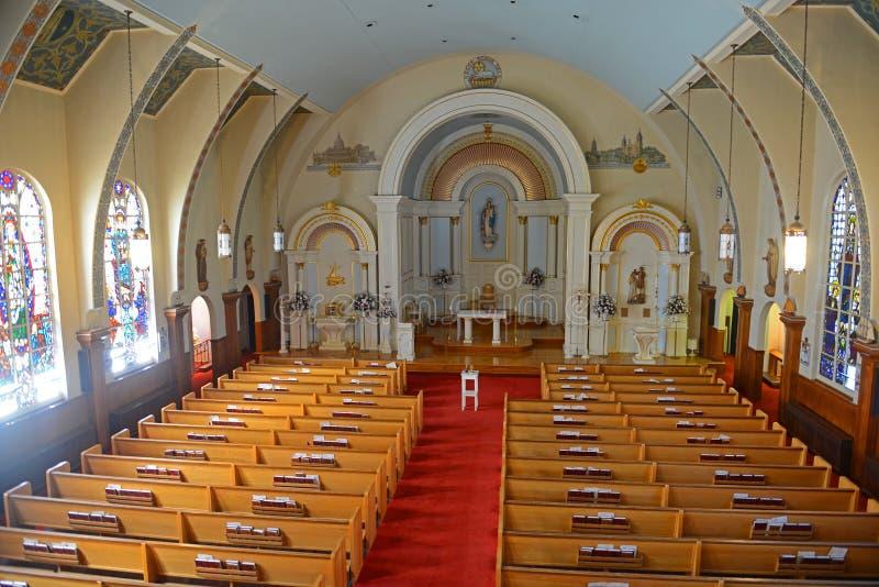 La nostra signora di buona chiesa di viaggio, Gloucester, mA, U.S.A. immagini stock libere da diritti