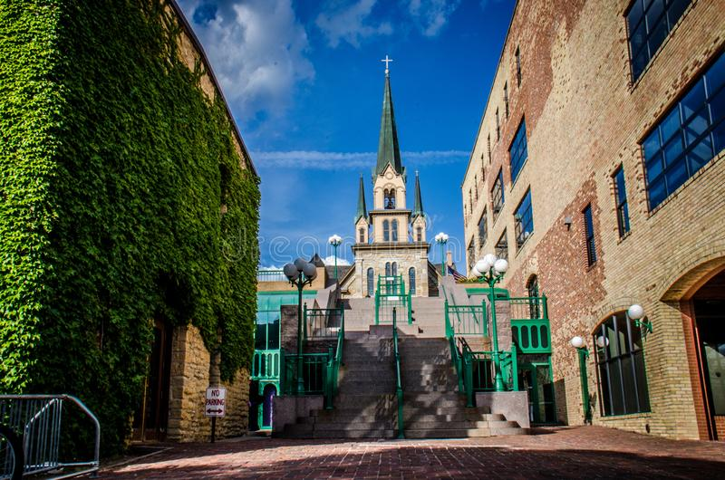 La nostra signora di Lourdes Church è il più vecchio a Minneapolis immagine stock libera da diritti