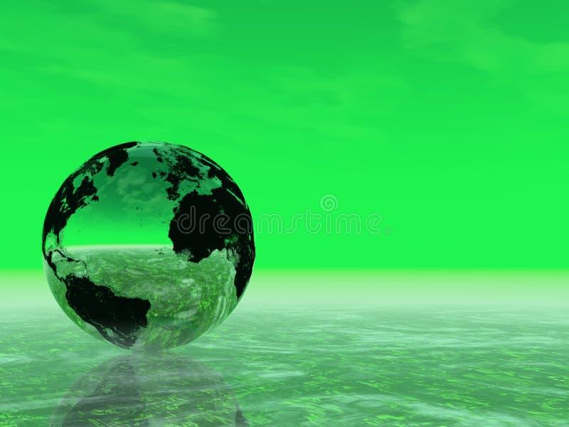 La nostra terra verde (trovi appena più nel mio portafoglio) fotografia stock