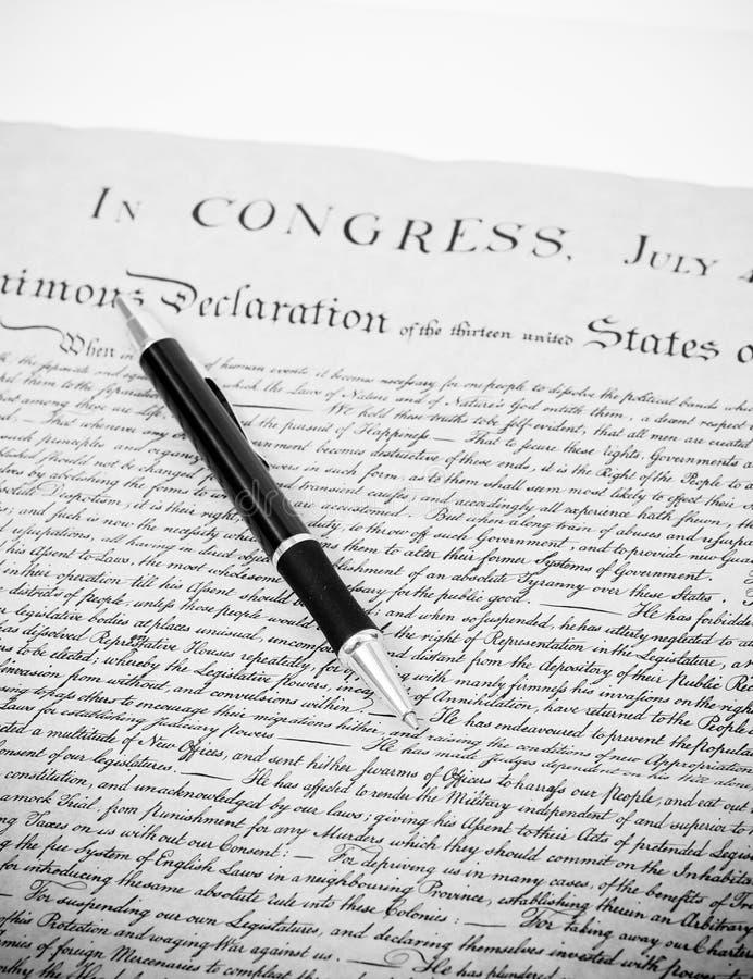 La nostri libertà e diritti immagine stock libera da diritti