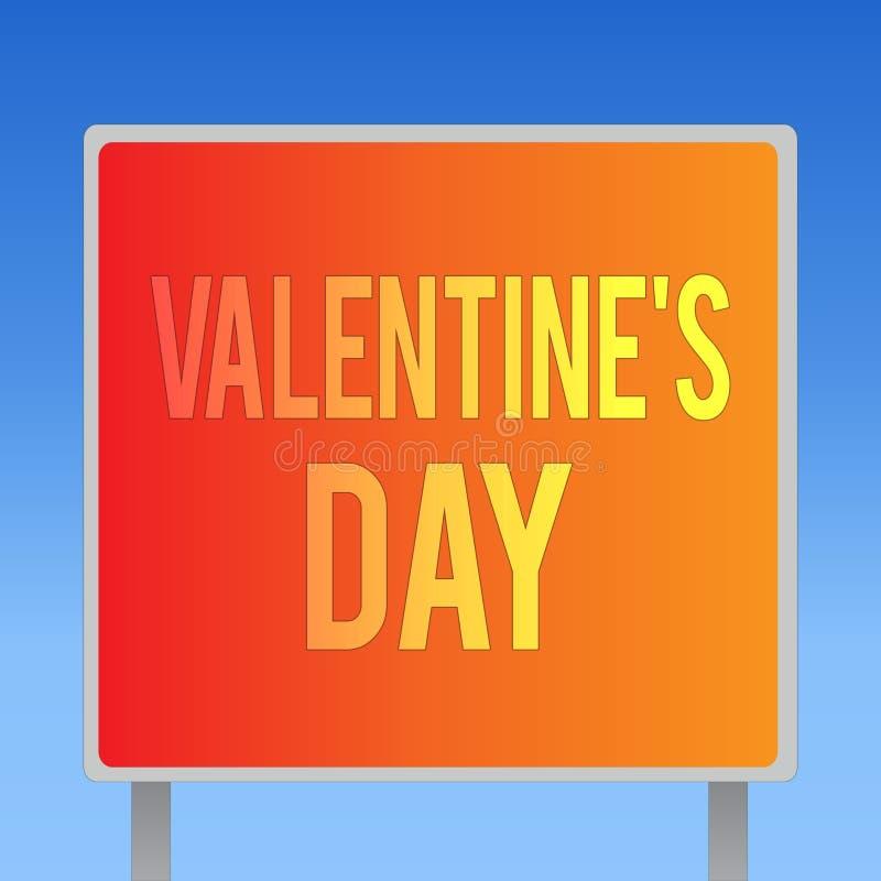 La nota de la escritura que muestra a la tarjeta del día de San Valentín s es día Tiempo de exhibición de la foto del negocio en  libre illustration
