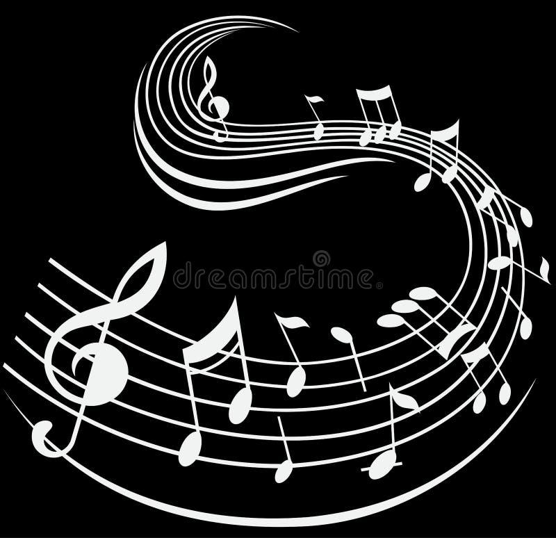 La nota de la música firma el fondo decorativo libre illustration