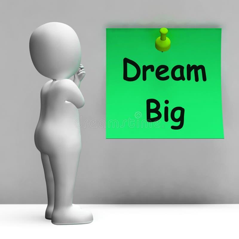 La nota grande ideal significa esperanza del futuro de la ambición ilustración del vector