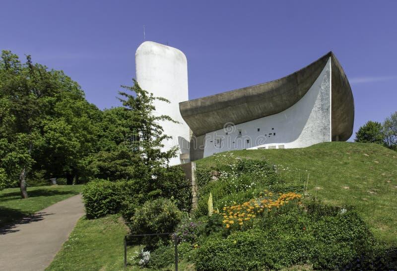 La Notre Dame du Haut, Le Corbusier imagens de stock royalty free