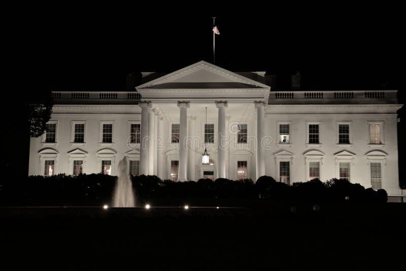 La notte della Casa Bianca fotografia stock libera da diritti