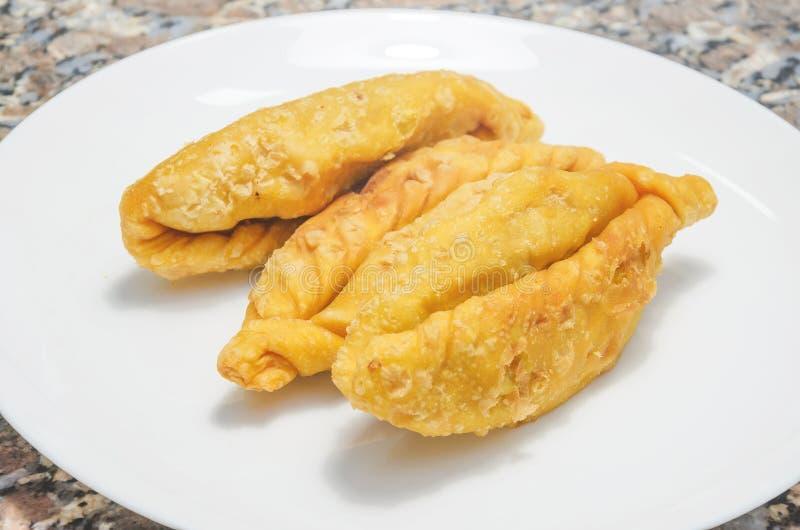 La nourriture typique a appelé Saltenha de Carne au Brésil photographie stock libre de droits
