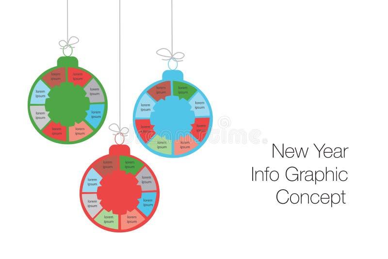La nouvelle année et les affaires modernes de Noël fait un pas aux diagrammes a de succès illustration de vecteur