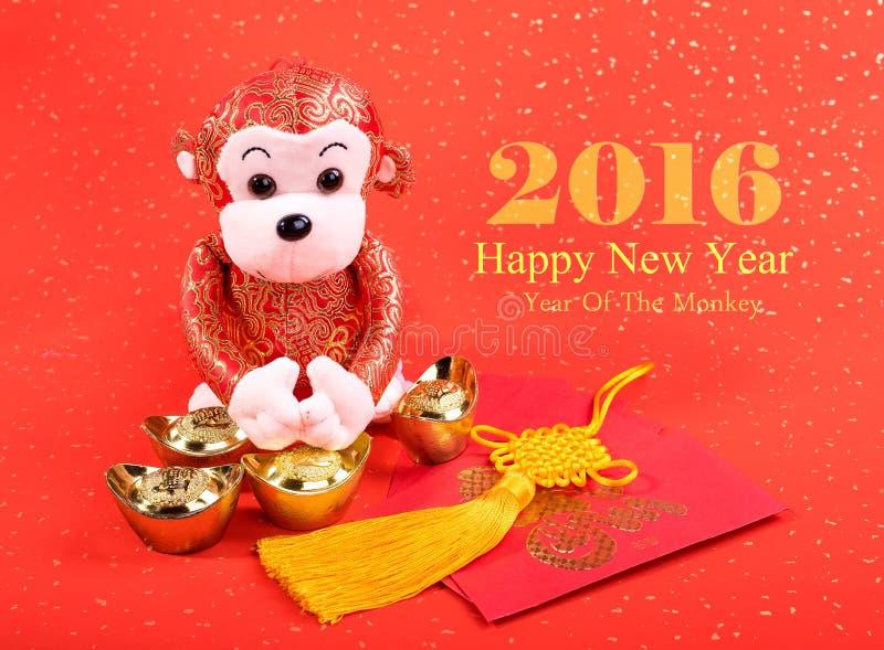 La nouvelle année lunaire chinoise ornemente le jouet du singe photographie stock