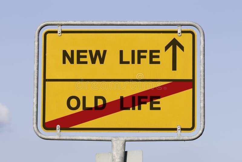 La nouvelle et vieille vie photo libre de droits