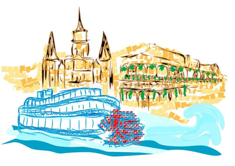 La Nouvelle-Orléans illustration stock