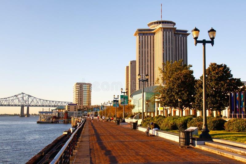 La Nouvelle-Orléans - matin le long de bord de mer images libres de droits