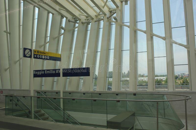 La nouvelle station de manière de Reggio Emilia Rail image libre de droits
