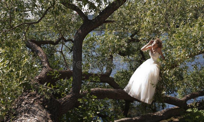 La novia en una alineada de boda fotos de archivo