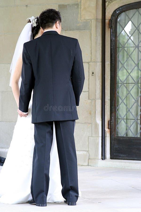 La novia y el novio foto de archivo libre de regalías
