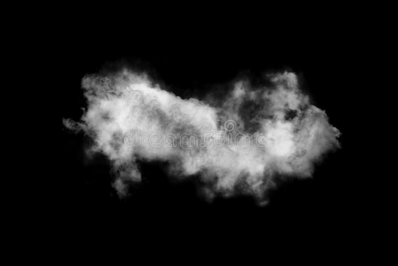 La nube aislada en el fondo negro, humo texturizado, cepilla las nubes, resume negro fotos de archivo libres de regalías