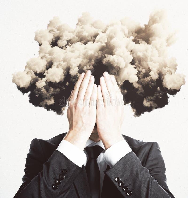 La nube dirigió al hombre foto de archivo libre de regalías