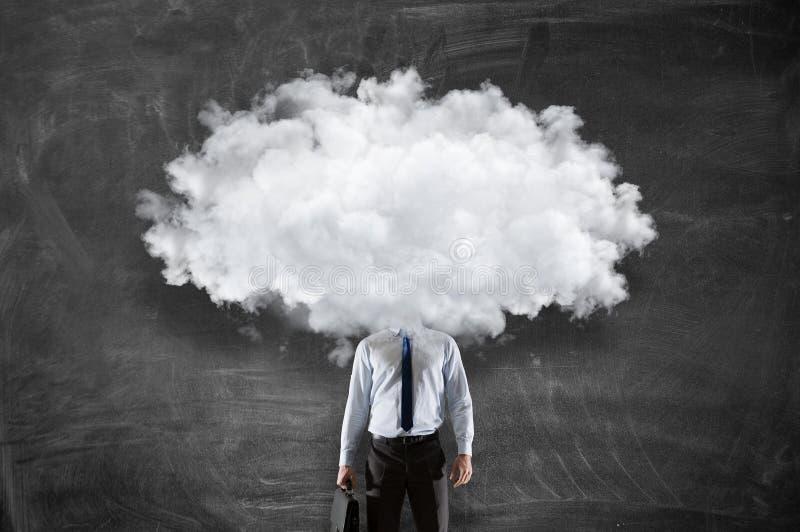 La nube dirigió al hombre Técnicas mixtas fotografía de archivo