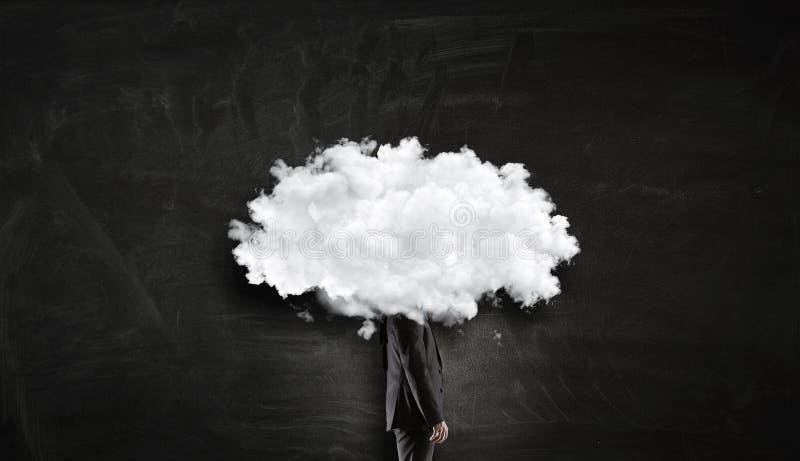 La nube dirigió al hombre Técnicas mixtas fotografía de archivo libre de regalías