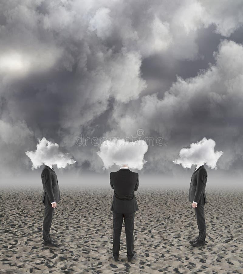 La nube dirigió a hombres de negocios fotografía de archivo libre de regalías