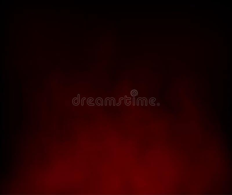 La nube roja y la composición abstracta del humo copian fondos del espacio ilustración del vector