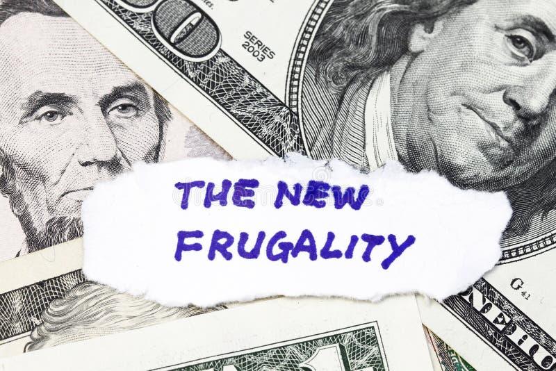 La nueva frugalidad imagenes de archivo