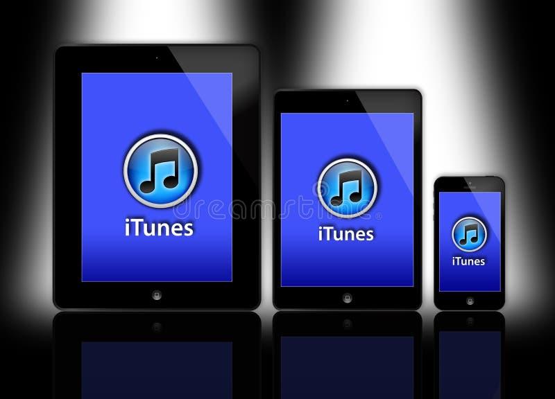 Nuevos iPad e iPhone de Apple stock de ilustración