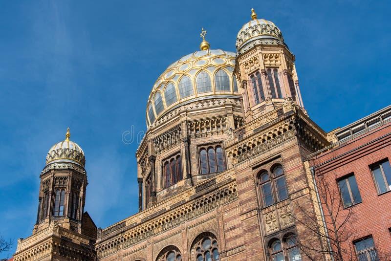 La nueva sinagoga en Berlín fotografía de archivo libre de regalías