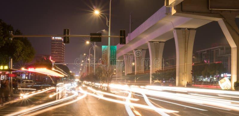 La nuit de Nanjing images stock