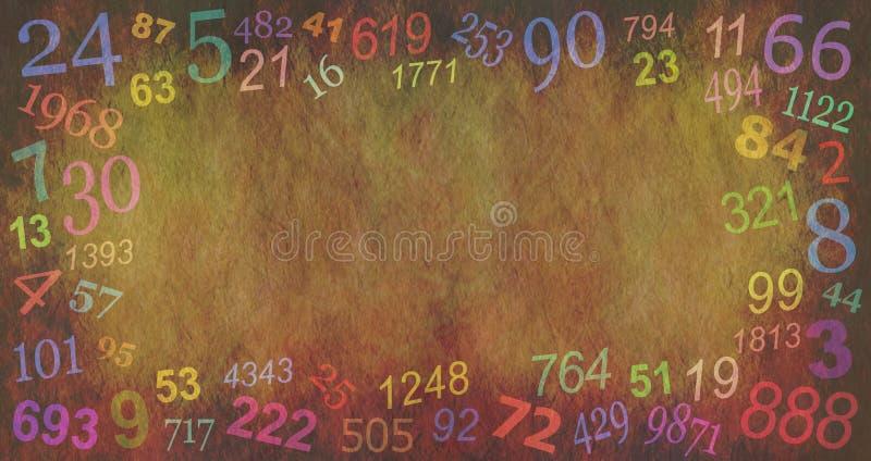 La numerologia numera il fondo del confine fotografie stock libere da diritti