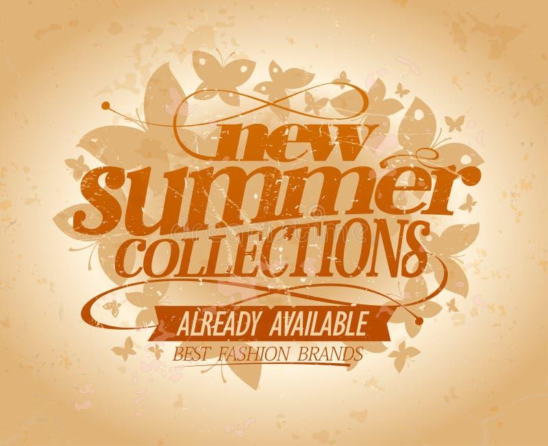La nuova progettazione di vettore delle collezioni dell'estate, migliore modo marca a caldo illustrazione di stock