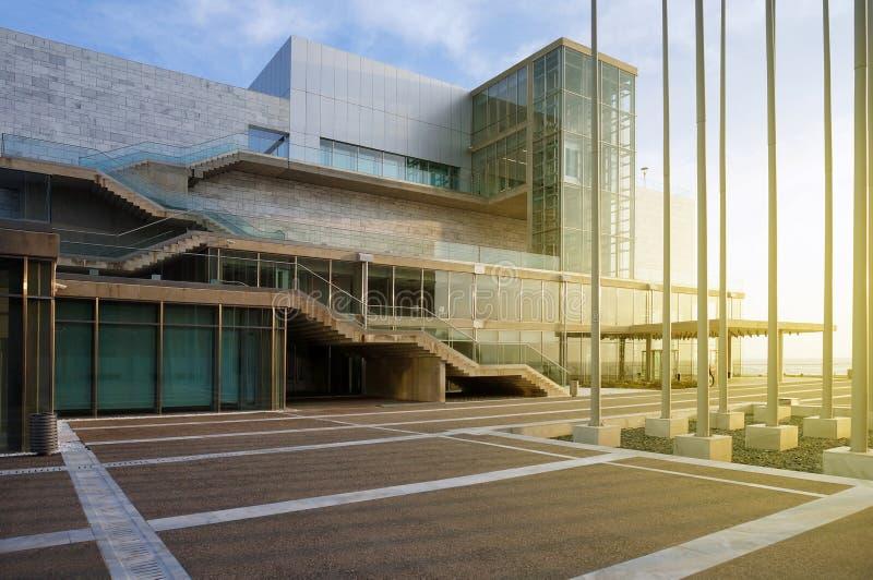La nuova sala da concerto di Salonicco immagini stock libere da diritti