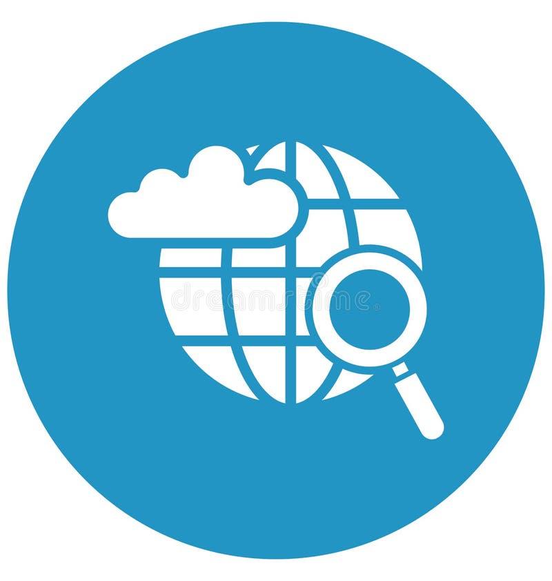 La nuvola ha basato l'icona di vettore isolata Internet che può modificare o pubblicare facilmente illustrazione di stock