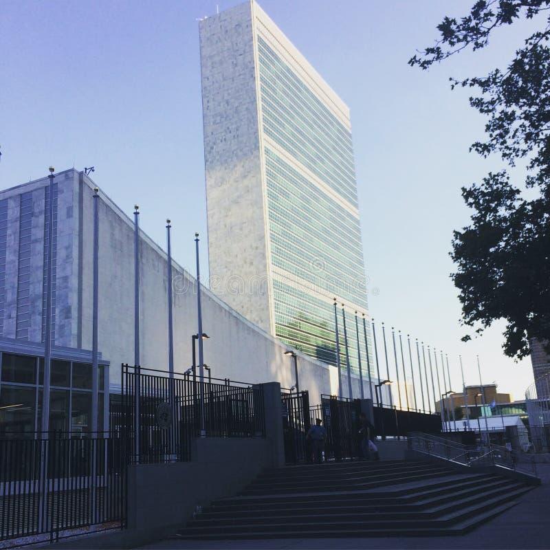 La O.N.U establece jefatura del edificio en New York City, NY, los E.E.U.U. fotografía de archivo libre de regalías